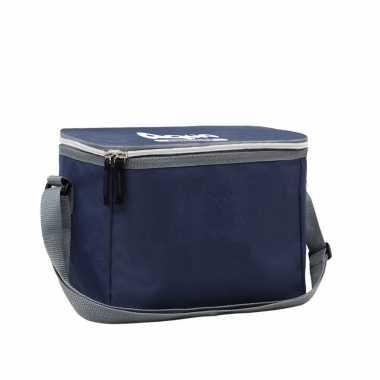 1x navy koeltassen voor 6/sixpack blikjes 26 x 16 cm 7.5 liter met schouderband