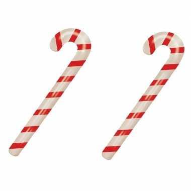 2x stuks kerst opblaasbare snoepstokken 90 cm