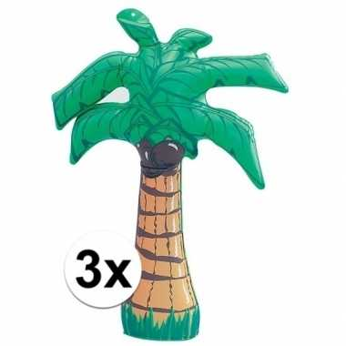 3 stuks opblaasbare palmbomen van 45 cm