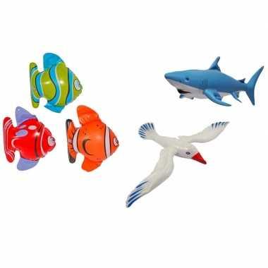 3x opblaasbare maritiem decoratie zeedieren type 2