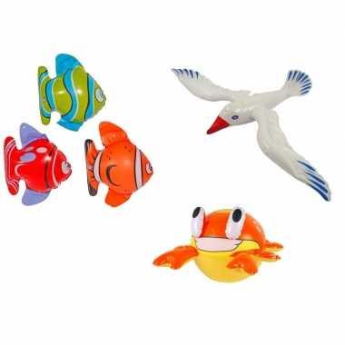 3x opblaasbare maritiem decoratie zeedieren type 5