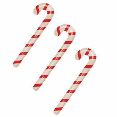3x stuks kerst opblaasbare snoepstokken 90 cm