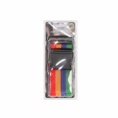 4 kleurige verstelbare kofferriem extra sterk