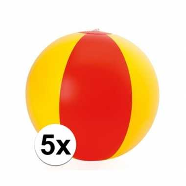 5x opblaasbare spanje strandbal