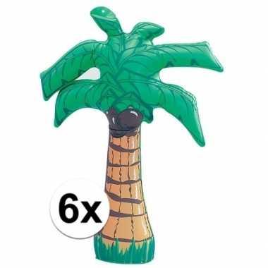 6 stuks opblaasbare palmbomen van 45 cm