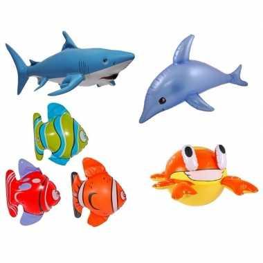 6x opblaasbare tropische zeedieren