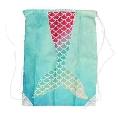 Aqua blauw gymtasje met zeemeerminnen staart