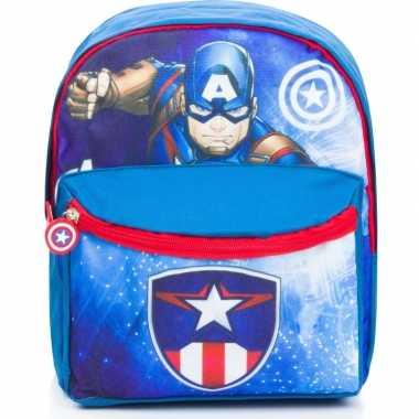 Avengers rugzak/rugtas blauw 29 cm voor kinderen