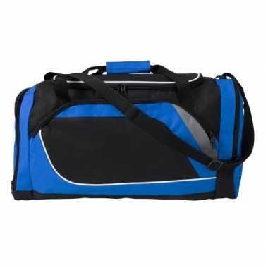 Blauw met zwarte sporttas/reistas 45 liter