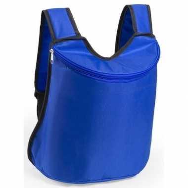 Blauwe koeltas rugzak 40 cm 23 liter