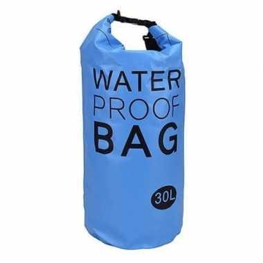 Blauwe waterdichte tas 30 liter