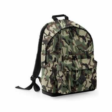 Camouflage rugtas schooltas rugzak 42 cm