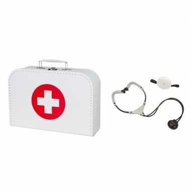 Dokterskoffertje met stethoscoop voor volwassenen