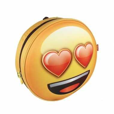 Emoji 3d rugtas liefde emoticon voor kinderen