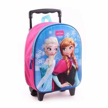 Frozen koffer/trolley roze voor meisjes