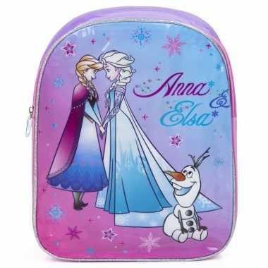 Frozen rugzak/rugtas paars/roze 33 cm voor kinderen