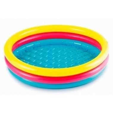 Gekleurd rond opblaasbaar zwembad klein 114 cm baby kinderen