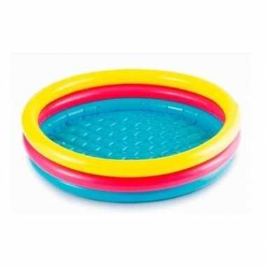 Gekleurd rond opblaasbaar zwembad klein 86 cm baby kinderen