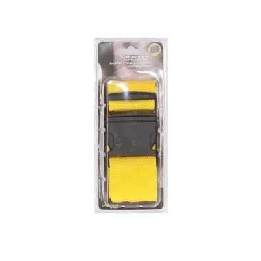 Gele verstelbare kofferriem extra sterk