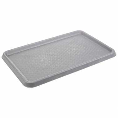 Grijze laars uitloop mat kofferbak mat 40 x 60 cm