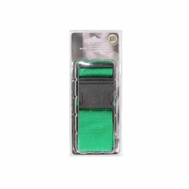 Groene verstelbare kofferriem extra sterk