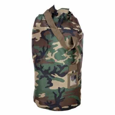 Grote duffel tas plunjezak camouflage 90 cm