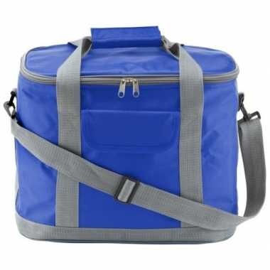 Grote koeltas blauw/grijs xl 26 liter