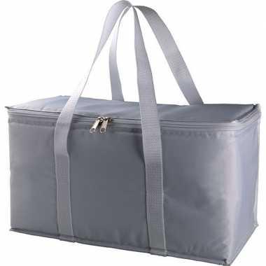 Grote koeltas zilver/grijs 17 liter
