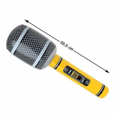 Grote opblaasbare microfoon 55 cm