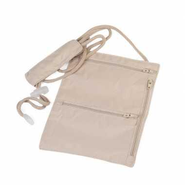 Handige halstas / nektasje reisportemonee 20 cm