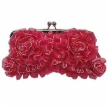 Handtasje met roze rouches