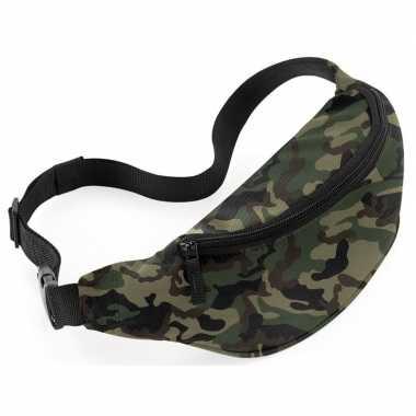 Heuptasje/buideltasje camouflage/leger print 38 cm