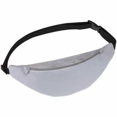 Heuptasje/buideltasje/fanny pack grijs 35 cm