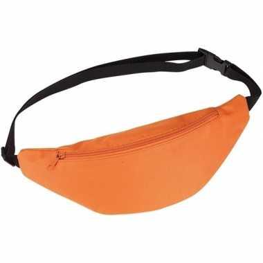 Heuptasje/buideltasje/fanny pack oranje 35 cm