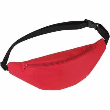 Heuptasje/buideltasje/fanny pack rood 35 cm