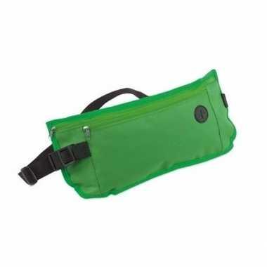 Heuptasje fanny pack groen 35 x 10 cm festival musthave