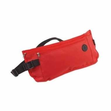 Heuptasje fanny pack rood 35 x 10 cm festival musthave