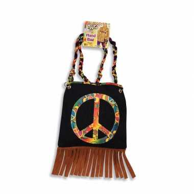 Hippie schoudertas peace