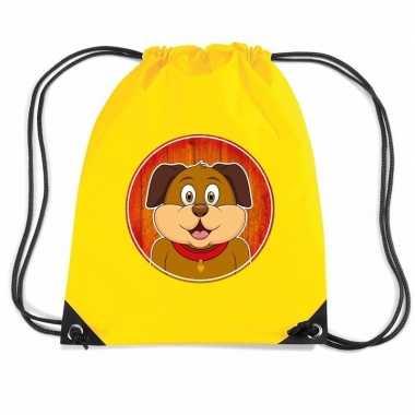 Honden rugtas gymtas geel voor kinderen