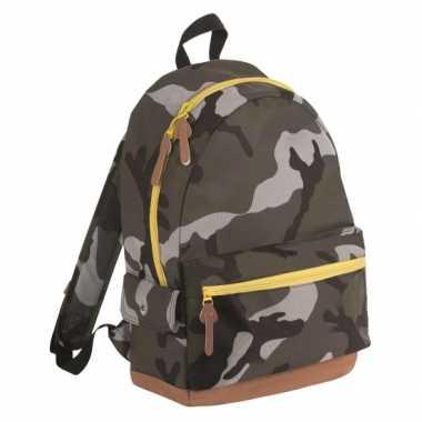 Junior camouflage rugzak/rugtas 42 cm 16 liter