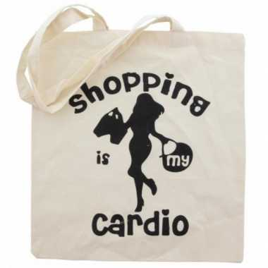 Katoenen tas cardio shopping