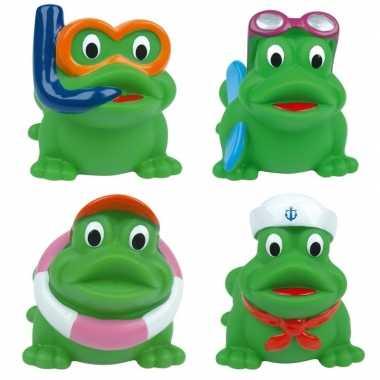 Kikker bad speelgoed 4 stuks in transparant tasje