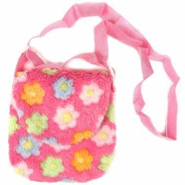 Kindertas roze met bloemetjes
