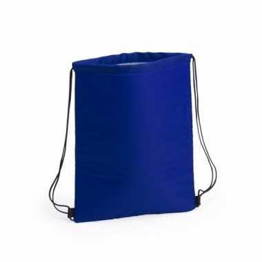 Koel rugtas blauw met rijgkoord