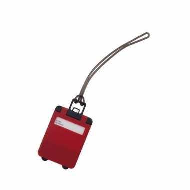 Kofferlabel rood 9,5 cm
