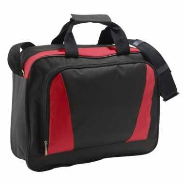 Laptop tas rood zwart 40 cm