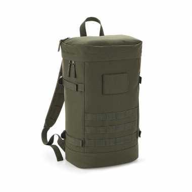 Leger groene rugzak/rugtas 21 liter voor volwassenen