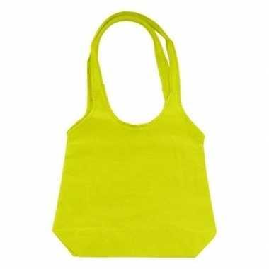 Limegroene opvouwbare tas shopper