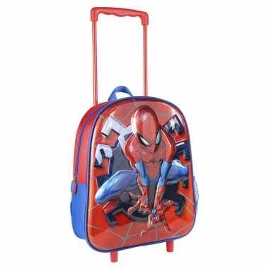 Marvel spiderman trolley/reiskoffer rugtas voor kinderen