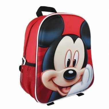 Mickey mouse rood 3d rugtasje voor kinderen